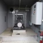 Interior shelter cu grup electrogen