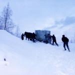 Transport echipamente Statie meteo montana