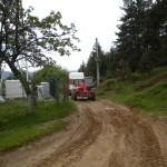 Transport echipamente la site montan